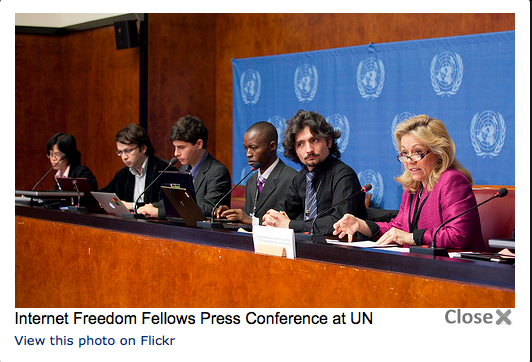 Internet Freedom Fellows Press Conference at UN